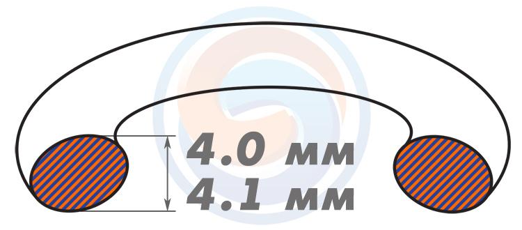 Резиновые уплотнительные кольца ОСТ - Диаметр сечения 4.0-4.1 мм