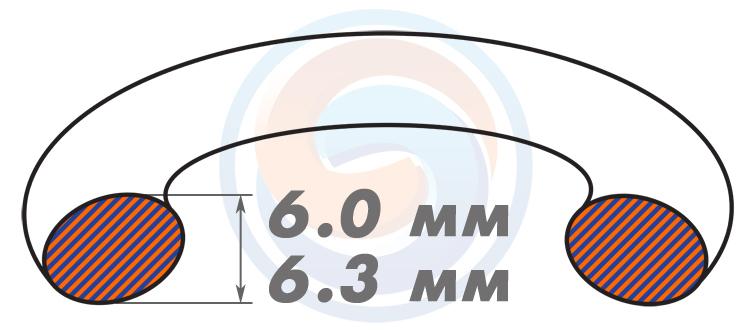 Резиновые уплотнительные кольца ОСТ - Диаметр сечения 6.0-6.3 мм