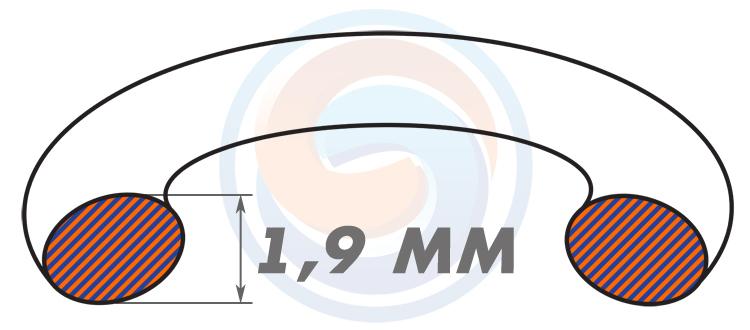 Резиновые уплотнительные кольца ГОСТ 9833-73 (ГОСТ 18829-73) - Диаметр сечения 1.9 мм