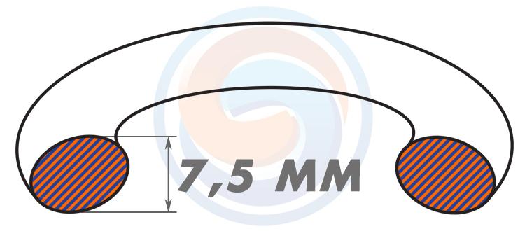 Резиновые уплотнительные кольца ГОСТ 9833-73 (ГОСТ 18829-73) - Диаметр сечения 7.5 мм