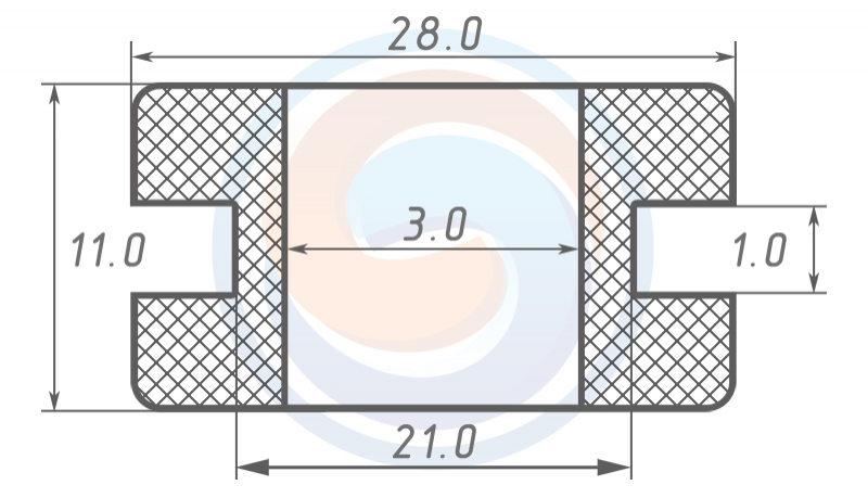 Втулка ГОСТ 19421-74 резиновая предохранительная 3 - 11 (21)