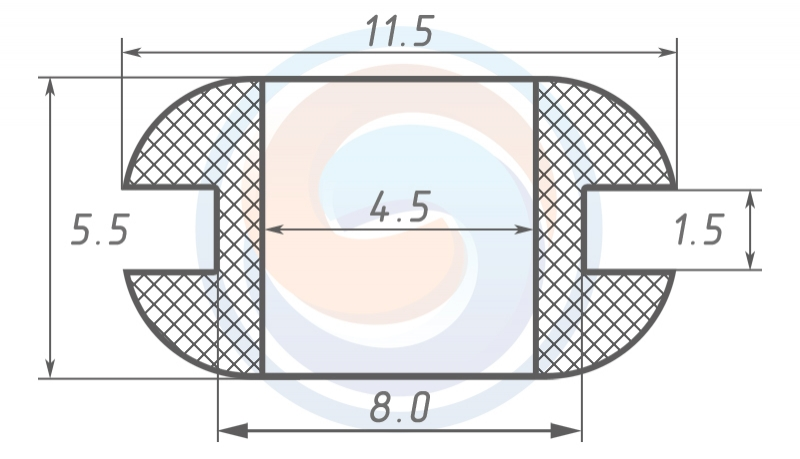 Втулка ГОСТ 19421-74 резиновая предохранительная 4.5 - 5.5 (8)