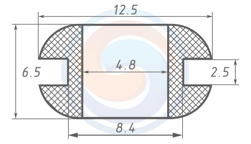 Втулка ГОСТ 19421-74 резиновая предохранительная 4.8 - 6.5 (8.4)