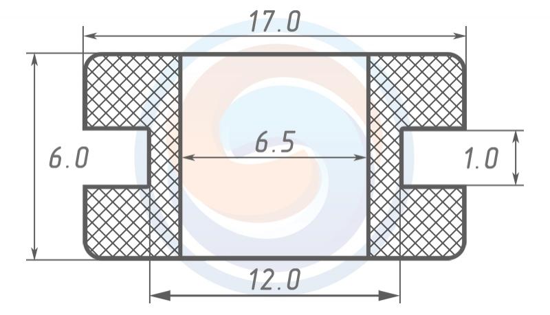 Втулка ГОСТ 19421-74 резиновая предохранительная 6.5 - 6 (12)