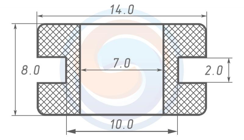 Втулка ГОСТ 19421-74 резиновая предохранительная 7 - 8 (10)