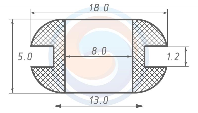 Втулка ГОСТ 19421-74 резиновая предохранительная 8 - 5 (13)