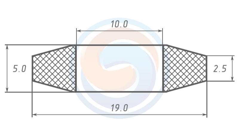 Кольцо МУВП К1 (19 х 10 х 2,5 х) по ТУ 2500-37600152106-94