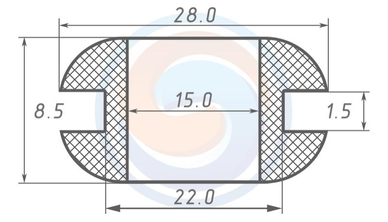 Втулка ГОСТ 19421-74 резиновая предохранительная 15 - 8.5 (22)