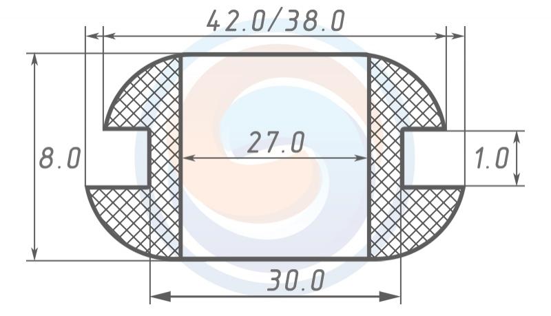 Втулка ГОСТ 19421-74 резиновая предохранительная 27 - 8 (30)