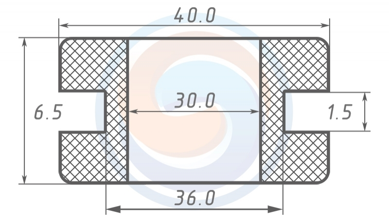 Втулка ГОСТ 19421-74 резиновая предохранительная 30 - 6.5 (36)
