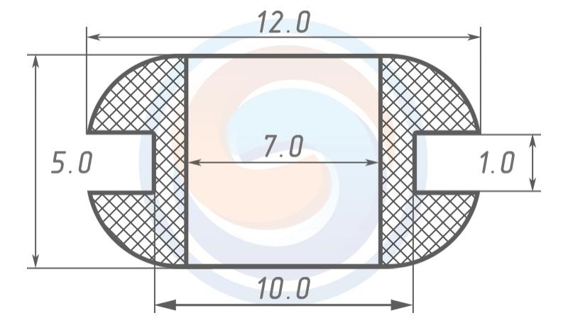 Втулка ГОСТ 19421-74 резиновая предохранительная 7 - 5 (10)